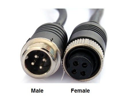 4 Pins Male Din Naar Rca Tulp Female Adapterkabel Met