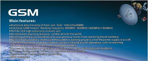 GSM Alarm Optie's